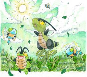 Flight of the Pokemon by Kurigaru