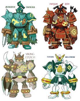 GOLURK variations by Kurigaru