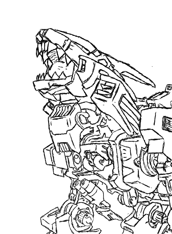 Liger coloring pages ~ Zoids Coloring Book Coloring Pages