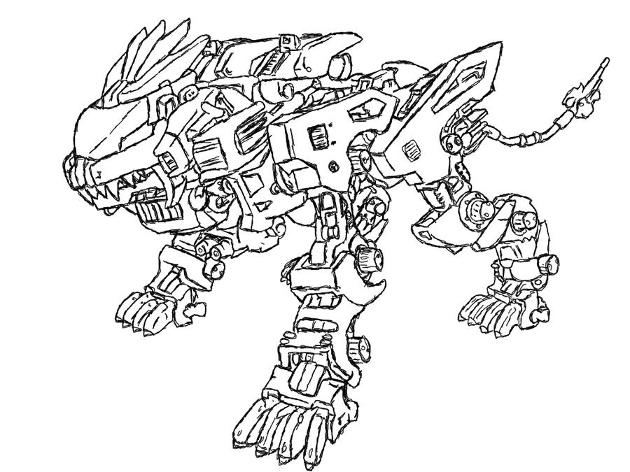 Liger coloring pages ~ Liger Drawing Sketch Coloring Page