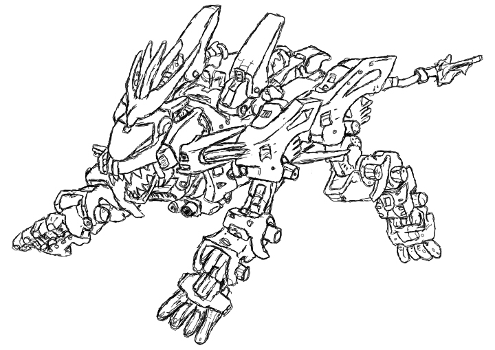 Liger coloring pages ~ Liger Zero Coloring Coloring Pages