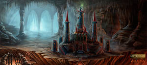 The temple of darkness by Araniart