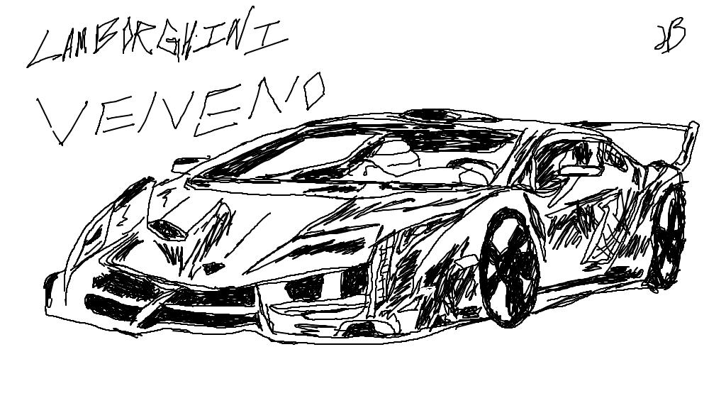 lamborghiniveneno deviantart how to draw a lamborghini - Lamborghini Black And White Drawing