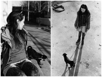 girl with a dog 2 by Sanjko0
