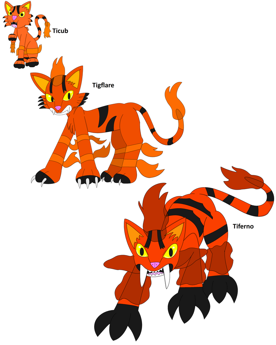 evolution chain: ticub by sapphiredragon49 on DeviantArt