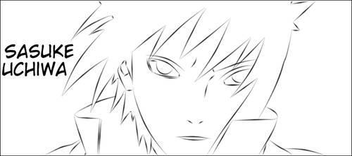 Sasuke Uchiwa Line by Oniikun
