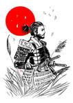 Samurai in the wind