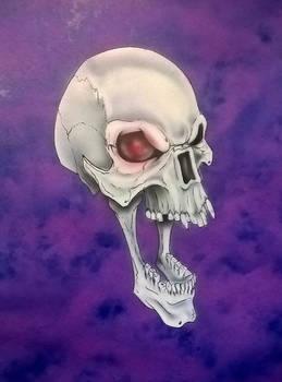 Skull On Vellum