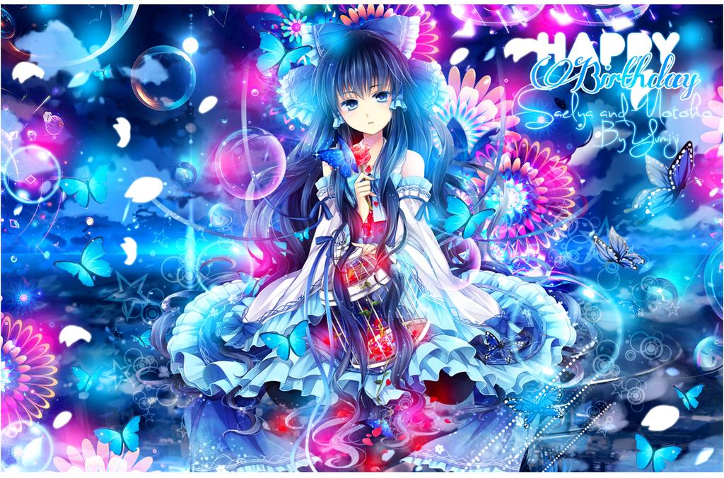 Galerie de Yumiji :) Blue_or_pink_saelya_and_motoko_by_yumijii-d5ve02b