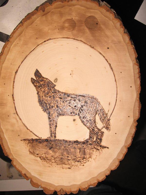 Wood Burning Wolf 1 By RunsWithTheWolf On DeviantArt