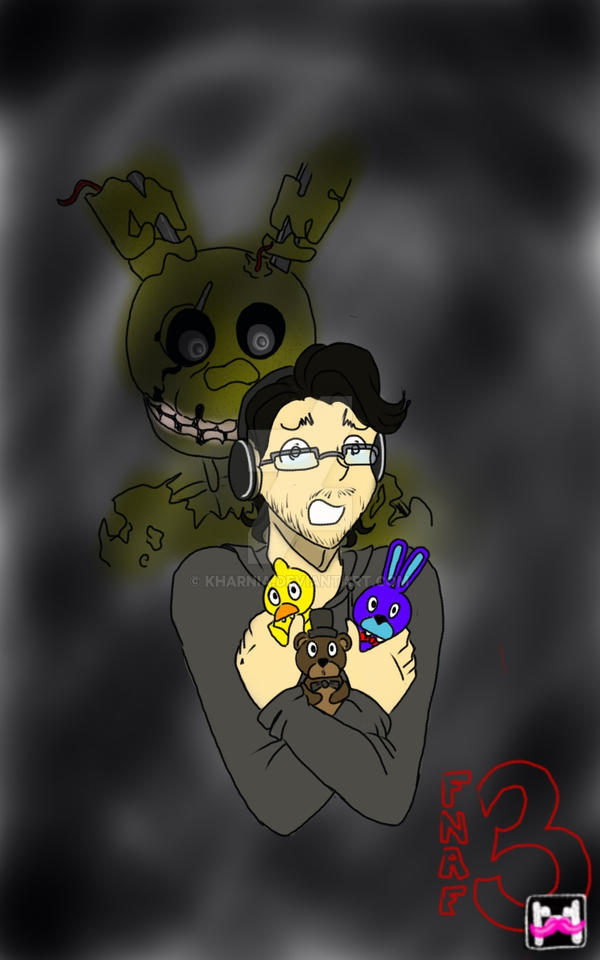 FNAF3: Markiplier by Kharnia