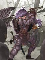 steampunk warrior by hon87