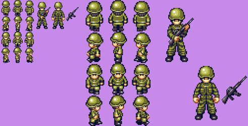 U.S. Marine - character set