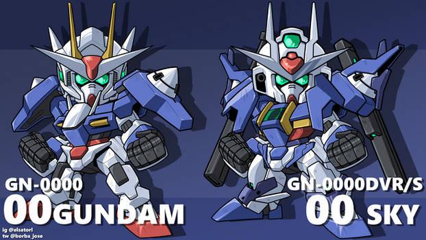 00 gundam + sky