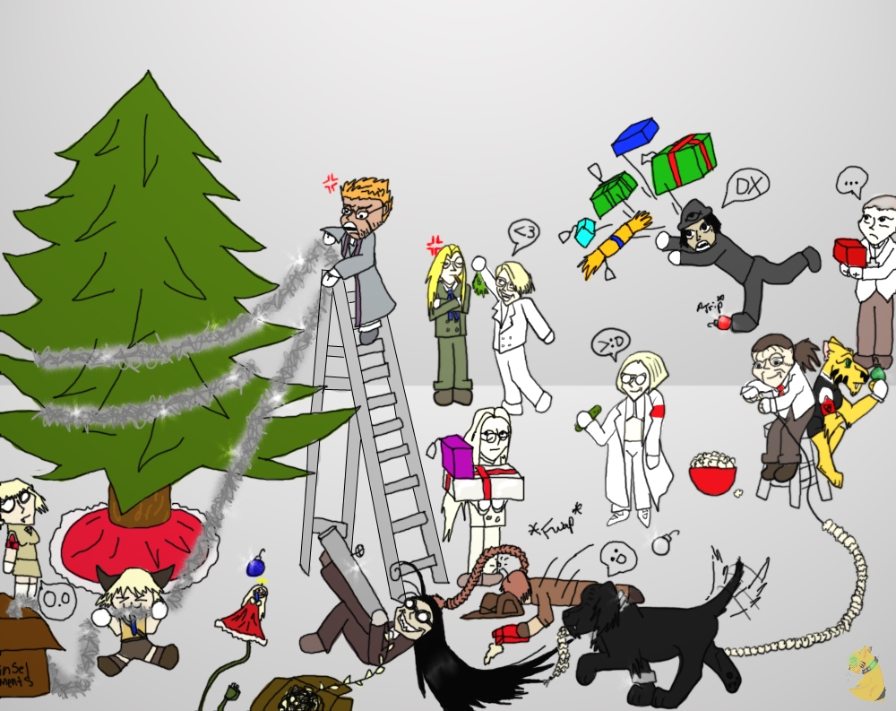 Hellsing Christmas by The-Caretaker on DeviantArt