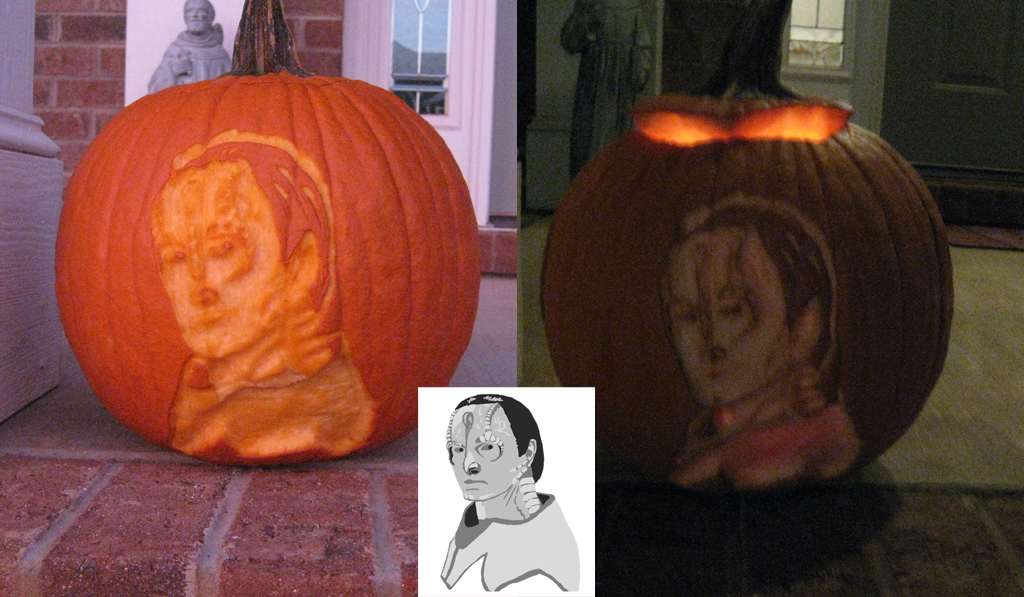 Mr. Garak Halloween Pumpkin by The-Caretaker