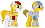 MLP:FiM -  Bronytown Armor (Captain and Private)
