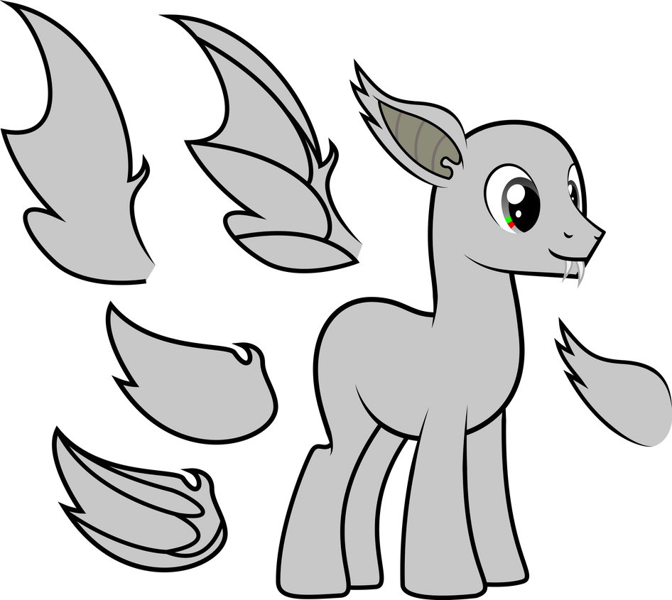 My little pony base unicorn with wings - photo#16