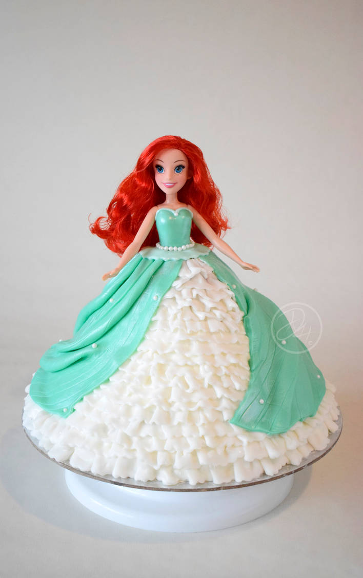 Ariel Doll Cake By Stargazeandsundance On Deviantart