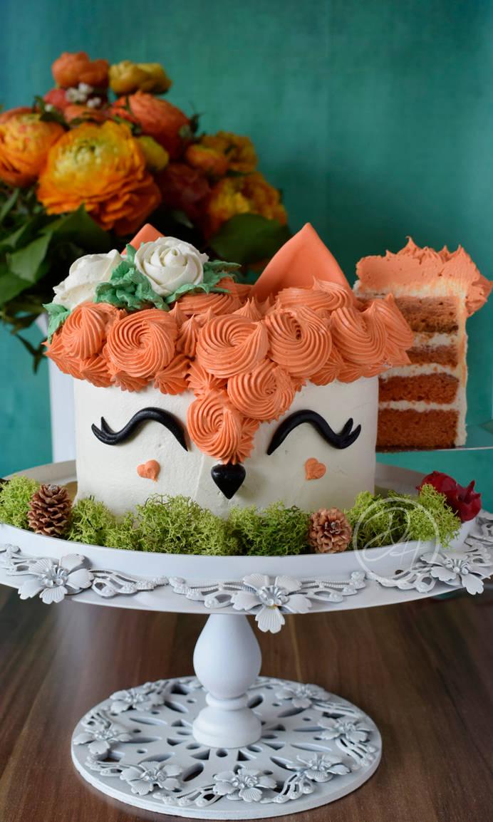 Fox Cake - Cut by StargazeAndSundance