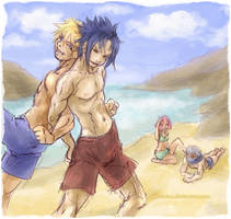 Team 7 - Beach fun by askerian