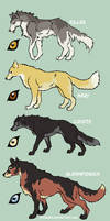 Four Wolfdogs
