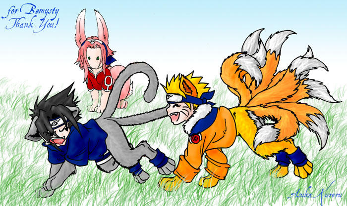 naruto - chibi furries 2 by askerian on DeviantArt Gaara As A Wolf
