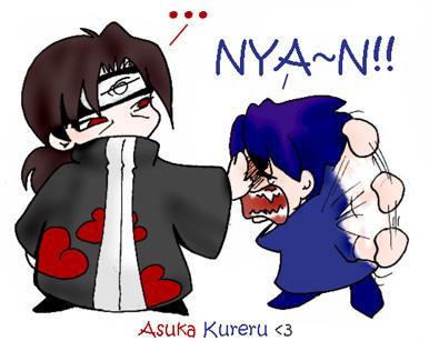 Chibi Itachi and Sasuke by askerian