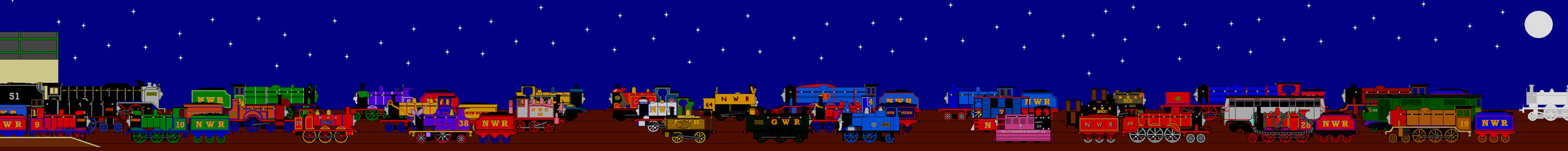 Rolling Sky Halloween Night.The North Western Railway Halloween Party By Guardiansoulmlp On