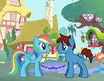 Cameron and Rainbow Dash