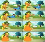 Applejack Swallows Cameron - MLP - FIM Vore Comic