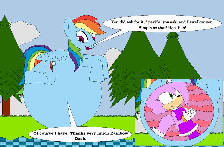 Sonic Burp Vore: Arttrade: SparkleGirl13 By LGee14 On DeviantArt