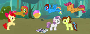 Playing with the Cutie Mark Crusaders