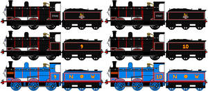 Railway Series Donald and Douglas Sprites