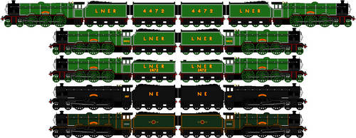 Railway Series Flying Scotsman Sprites MKIII by GuardianSoulMLP
