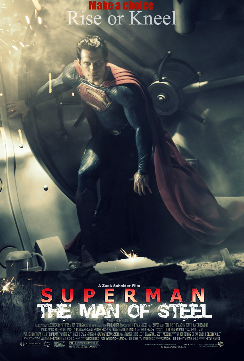 The Man Of Steel Movie Poster by Melciah1791