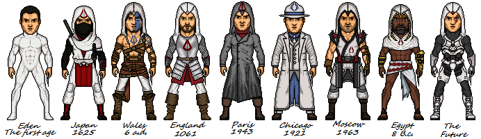 Assassins Creed Through The Ages By Melciah1791 On Deviantart