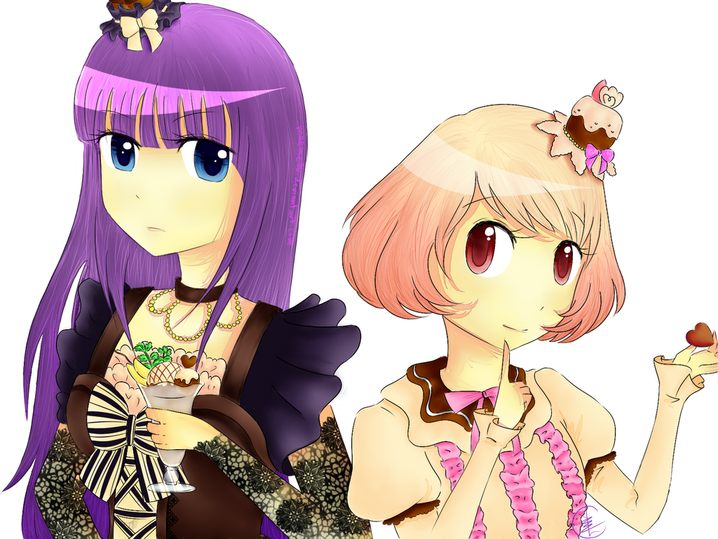 Mahou no Shokora: Aikawa Shokora and Blanche by MaeMe96