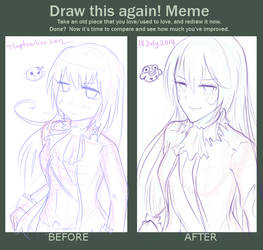 Before after meme2: 2012 vs 2014 by MaeMe96