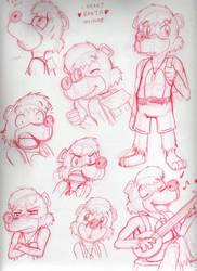 Sketches a la Banjo by Nintendo-Nut1