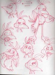 Sketches a la Kazooie by Nintendo-Nut1