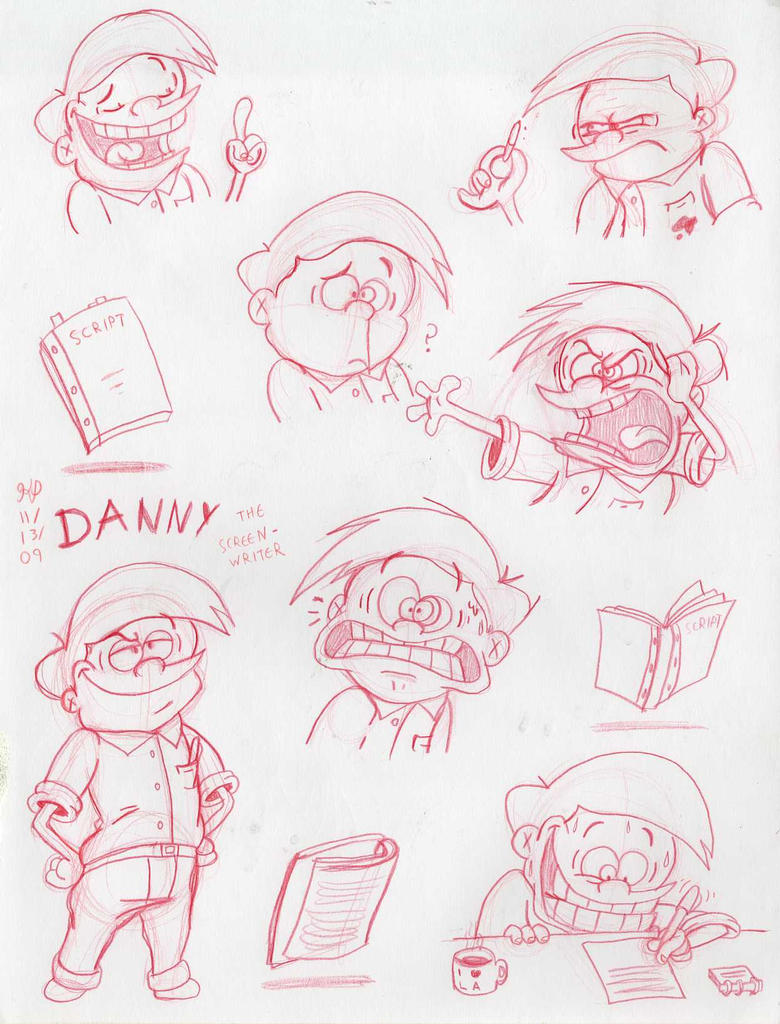 Danny the Screenwriter by Nintendo-Nut1