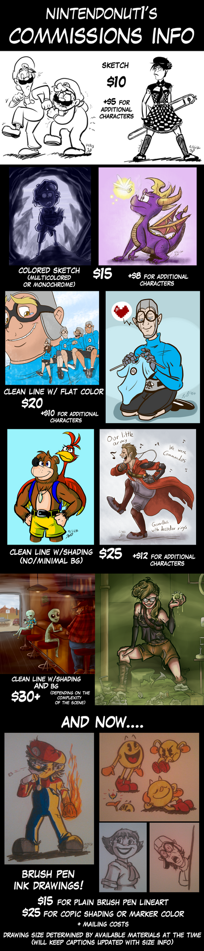 NUTTY'S COMMISSIONS v2 by Nintendo-Nut1