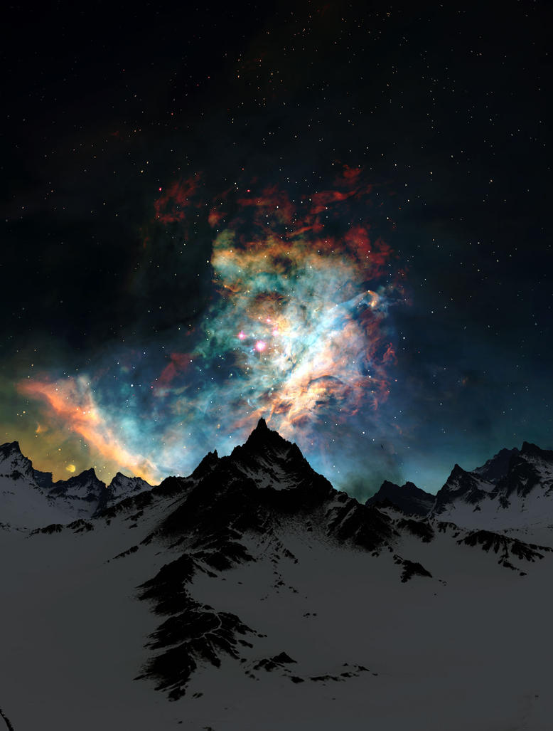 Through the Clouds, Night by Jeddaka