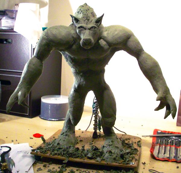 Werewolf Sculpture (WIP)