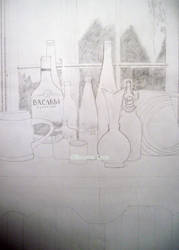 Still life bottles by sayitisntso