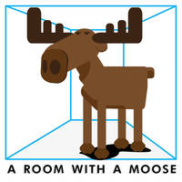 A room with a Moose