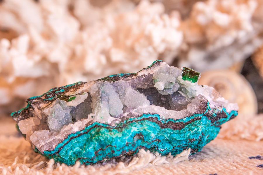 quartz Chrysocolla Atacamite by Ewa5