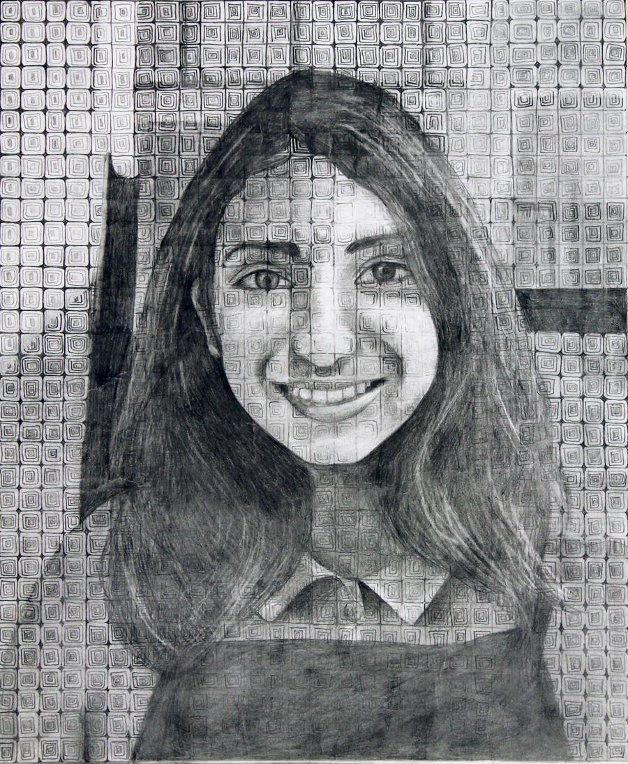 Gridded portrait by RockyRoni