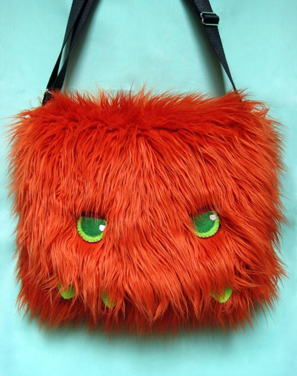 Custom Orange Monster Bag by jefita